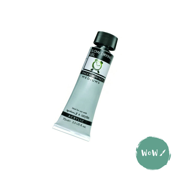 Acrylic Mediums- Daler Rowney - SLOW DRYING GEL 75ml Tube