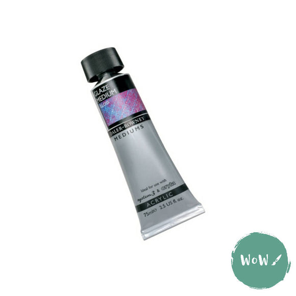 Acrylic Mediums- Daler Rowney - GLAZE MEDIUM GLOSS 75ML Tube