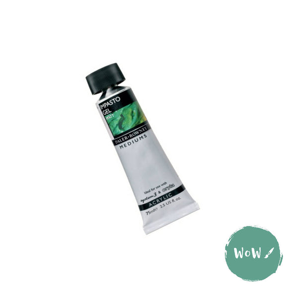 Acrylic Mediums- Daler Rowney - IMPASTO GEL MATT 75ml Tube.