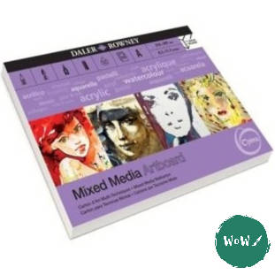 Daler Rowney Optima Mixed Media Artboard Pads-  A3