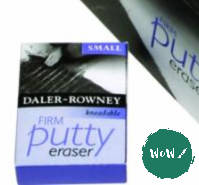 Daler Rowney Kneadable Putty Eraser- Small, Soft or Firm