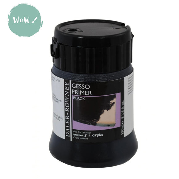 Daler Rowney Acrylic Medium- ARTIST GESSO 250ML BLACK