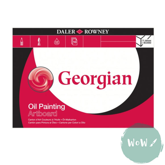 Pad - Oil Painting -Daler Rowney Georgian 1.4mm thick, 10 sheet Artboard Pad A3