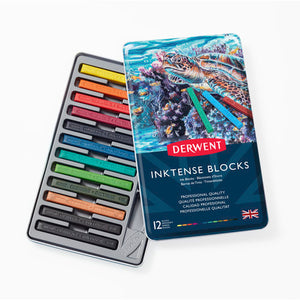 Derwent INKTENSE Blocks Sets- Tin of 12