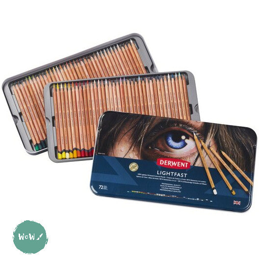 Derwent LIGHTFAST Pencils Sets- 72 Tin