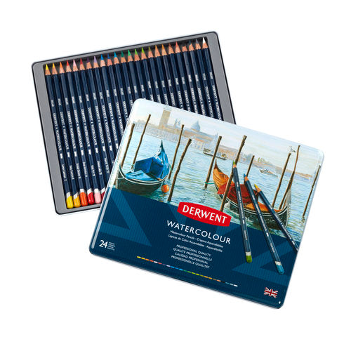 Derwent WATERCOLOUR Pencils Sets -Tin of 24