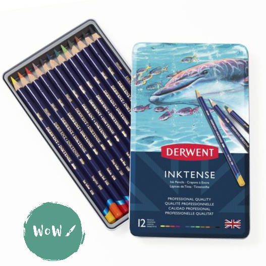 Derwent INKTENSE Pencils Sets- 12 tin