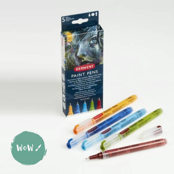Derwent Paint Pen Set of 5- Palette No. 2