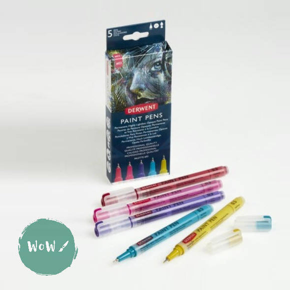 Derwent Paint Pen Set of 5- Palette No. 3
