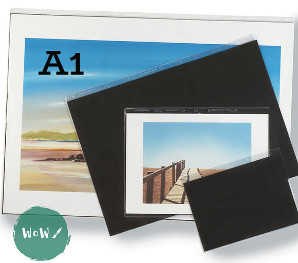 Presentation Portfolio with rings- Heavy Gauge Display Sleeves- Singles A1