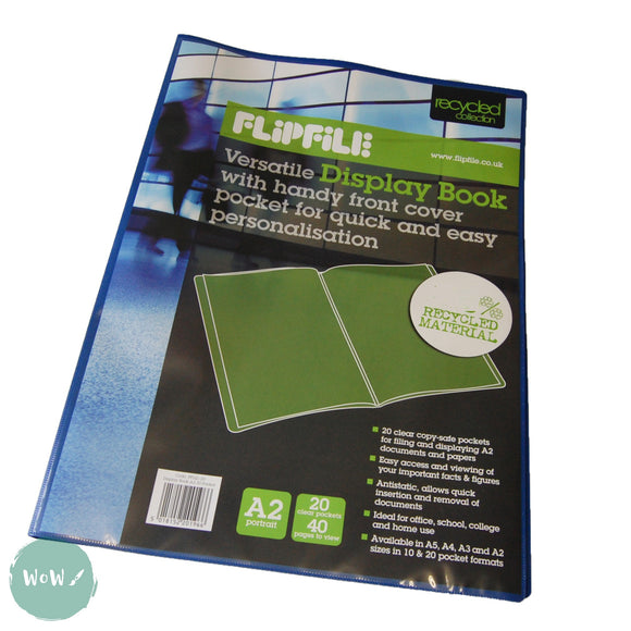 Display Book- Flipfile A2 with 20 internal pockets