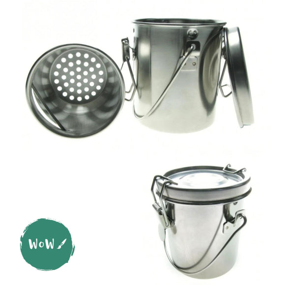Water Pots - Frisk Stainless Steel Brush Washer