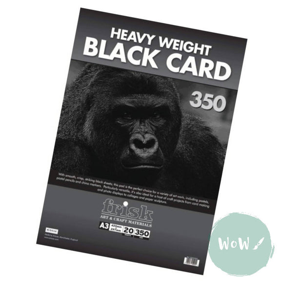 Frisk Black Heavyweight Card pads 350gsm A3