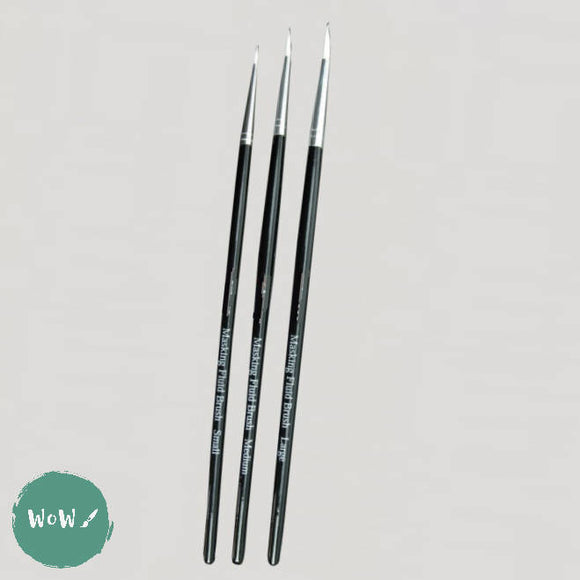 Masking Fluid Brushes- Set of 3