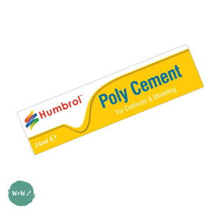 Glue - Humbrol Poly Cement-24ml tubes