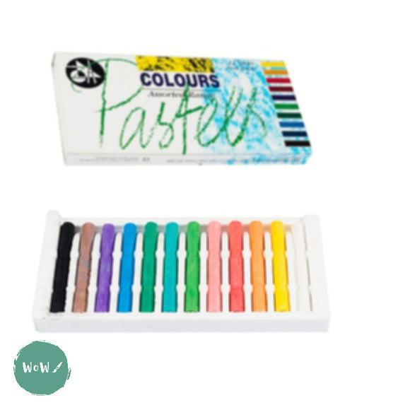 Soft Pastels Sets - Jakar - 12 assorted Colours