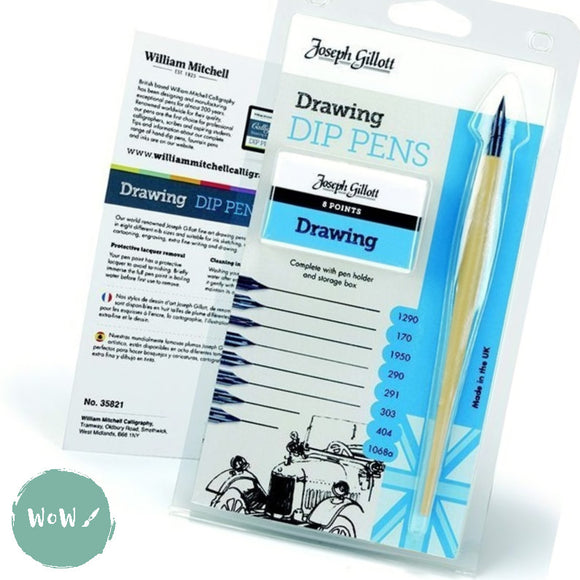 Dip Pen Set- Joseph Gillott DRAWING PENS assorted