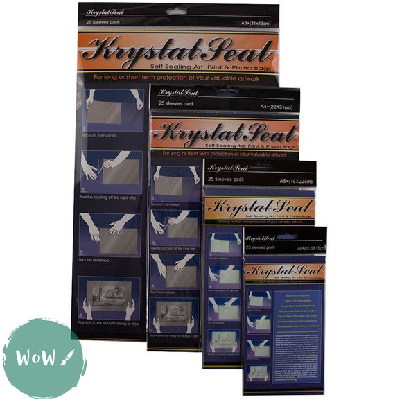 A6+ Krystal Seal Sleeves, pack of 25