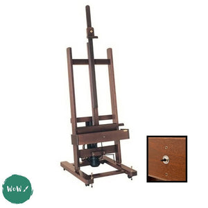 Mabef DARK Walnut Stained Electrically operated Studio Easel M01 with foot pedal switch