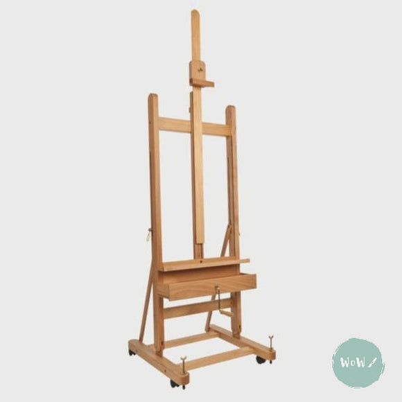 Mabef Small 'H' Frame Studio Easel with hand cranked height adjustment M05