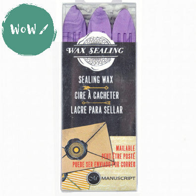 Manuscript Sealing Wax sticks (Pack of 3) LILAC