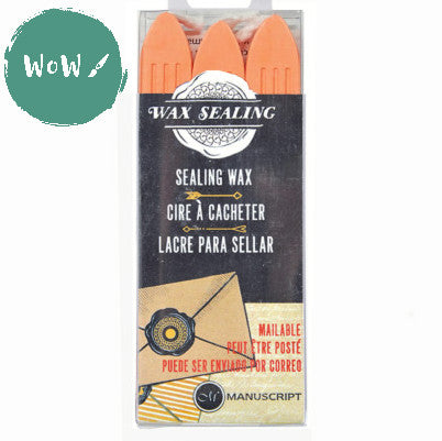 Manuscript Sealing Wax sticks (Pack of 3) PEACH