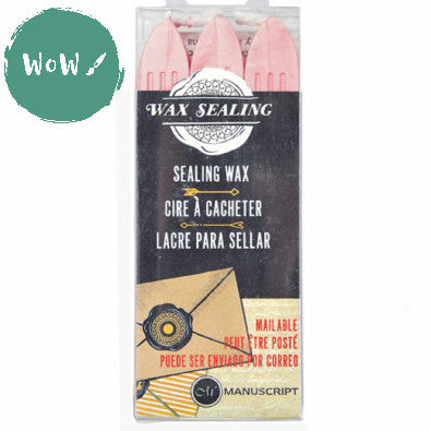Manuscript Sealing Wax sticks (Pack of 3) PINK
