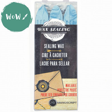 Manuscript Sealing Wax sticks (Pack of 3) POWDER BLUE