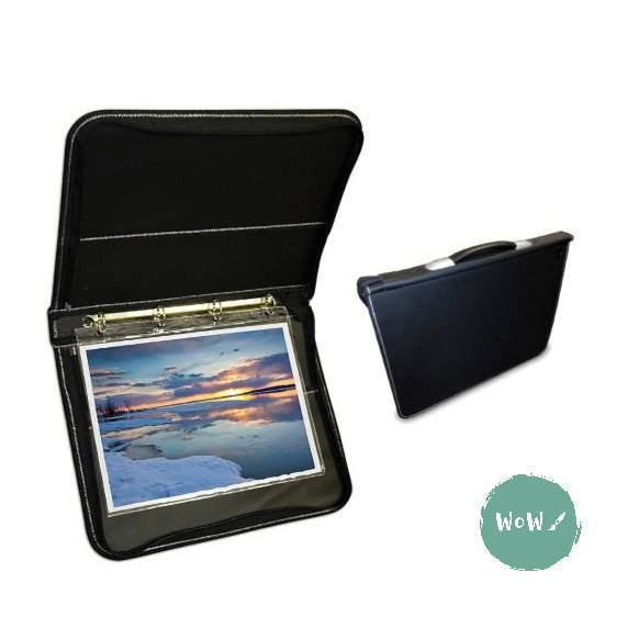 Presentation Portfolio with rings-Professional Premier Leather Grain case A1 Artcare by Mapac