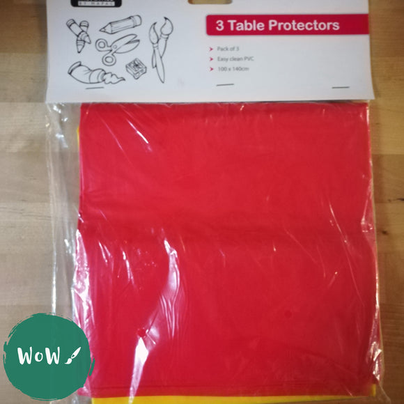 Easy Clean PVC 100 x 140cm Table/Worktop protectors pack of 3