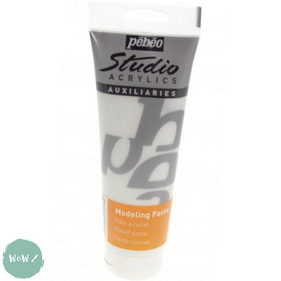 Acrylic Mediums- PEBEO STUDIO Modelling Paste - 250ml Tube