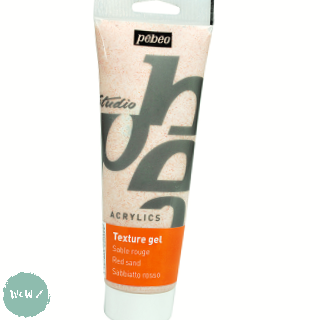 Acrylic Mediums- PEBEO STUDIO White Sand Texture Gel - 250ml Tube