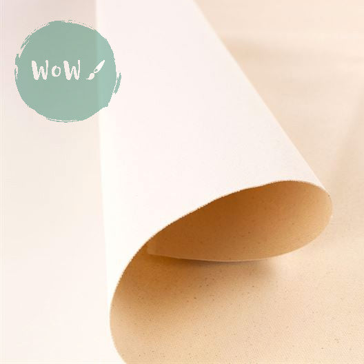 Primed 10 oz Cotton Canvas Medium 1.5m wide per metre