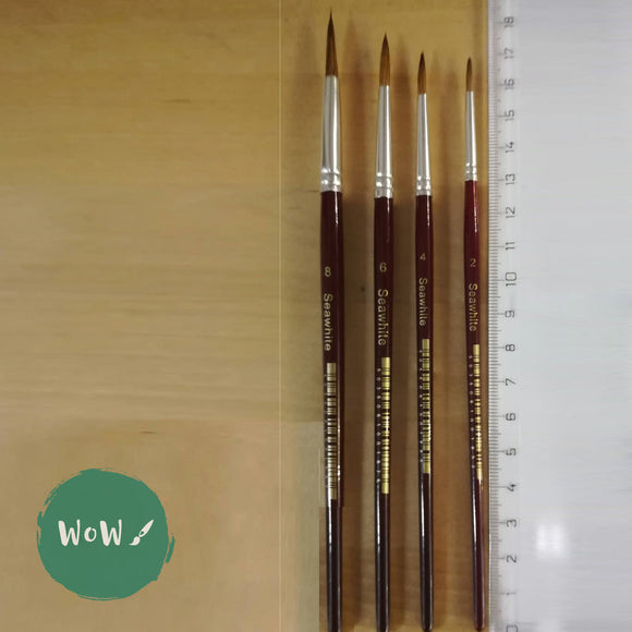 Soft Squirrel Hair Watercolour Brushes-Round- size-  8