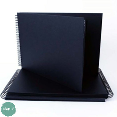 220 gsm Black cartridge, Spiral bound Hardback sketchbook, 40 sheets- A3