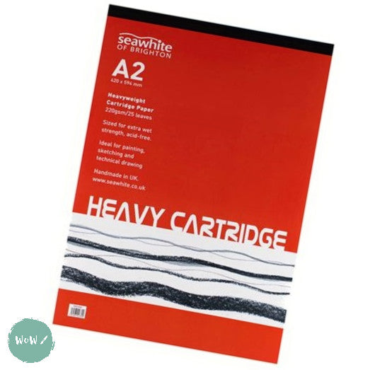 Heavyweight 220gsm All-media Cartridge pad A2, 25 sheets  FSC Cartridge paper