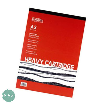 Heavyweight 220gsm All-media Cartridge pad A3, 25 sheets FSC Cartridge paper