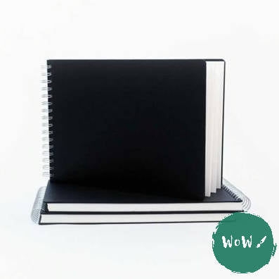 Seawhite Hardback Spiral Bound sketch books 160gsm All-Media Cartridge Paper, A4 Landscape