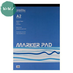 A2 Marker Pad, 50 sheets 70gsm bleed-proof Marker paper by Seawhite