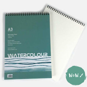 Spiral bound NOT Surface, 350gsm, A3, Watercolour Paper Pad by Seawhite