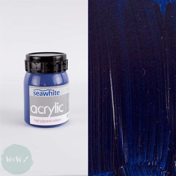 Seawhite High Pigment Acrylic 500ml - Pthalocaynine (Prussian) Blue