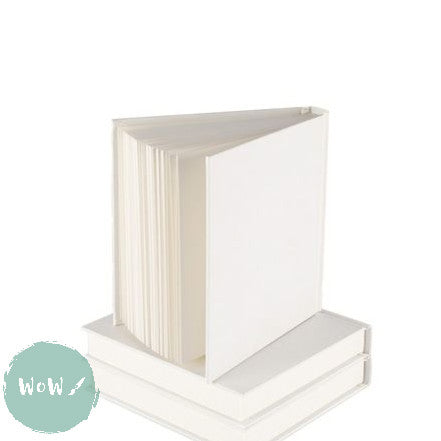 Hardback Square & Chunky White Cover Sketchbook 140mm, 90 sheets 140 gsm All-Media Cartridge