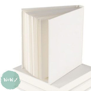 Hardback Square & Chunky White Cover Sketchbook 195mm, 90 sheets 140 gsm All-Media Cartridge