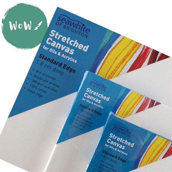 White Primed 350 gsm 100% Cotton Stretched Canvas, 18mm  deep – SINGLES- 13 X 18cm (approx.5 x 7