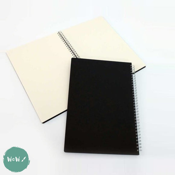 Seawhite Hardback Spiral Bound sketch book 150gsm all media Cream paper, A3