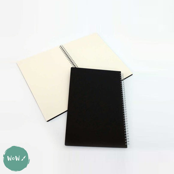 Seawhite Hardback Spiral Bound sketch book 150gsm all media CREAM paper, A4