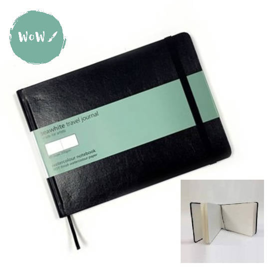 A4 Watercolour paper Hard Back Travel Journal- 200gsm NOT Surface- Landscape