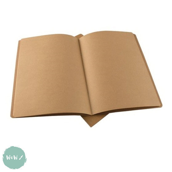 Softback sketchbook, 20 sheets (40 pages) ECO 100 gsm KRAFT paper - A3