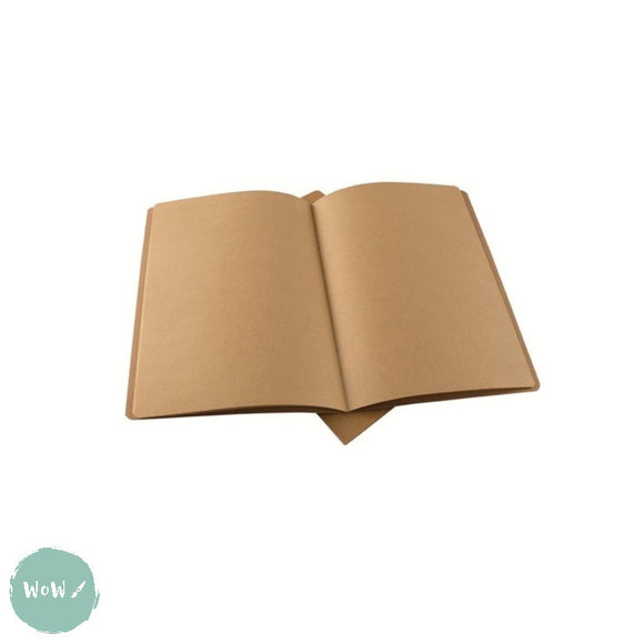 Softback sketchbook, 20 sheets (40 pages) ECO 100 gsm KRAFT paper - A4