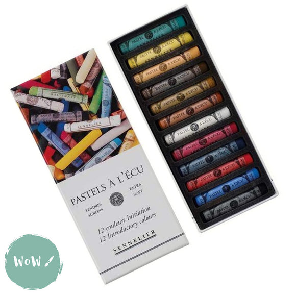 Sennelier L'ecu Extra Soft Pastels Set- Full Length Introductory 12 Assorted
